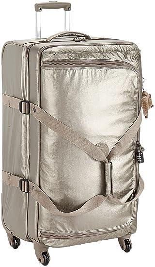 Kipling Cyrah L Trolley, 79 cm, 101 litros, Metallic Pewter (Dorado): Amazon.es: Equipaje