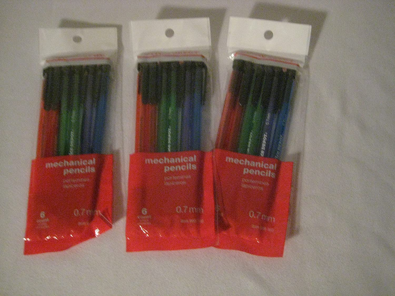 Office Depot(R) Brand Hb Mechanical Pencils, 0.7 Mm, Assorted Color Barrels, Pack of 6 (3 Pack)