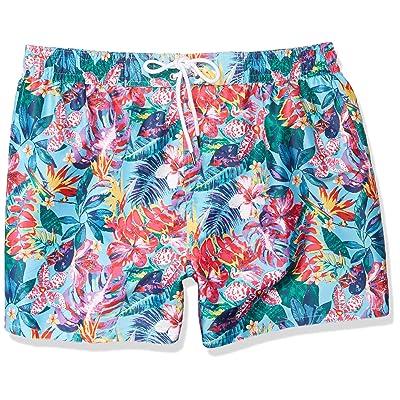 2(X)IST Men's Ibiza Block Print Swim Trunks | Amazon.com