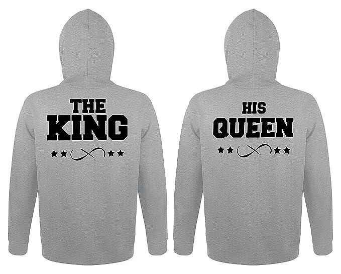 TRVPPY 2X Pareja Suéter Sudadera con Capucha/Modelo The King + His Queen/para Hombre & Mujer, en Muchos Colores Diferentes/Hooded Sweat Hoodie: Amazon.es: ...