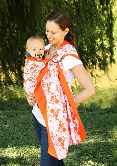 ad3e9446721 Amazon.com   Snuggy Baby Prestige Ring Sling Baby Carrier - Orange Fizz   Child  Carrier Slings   Baby