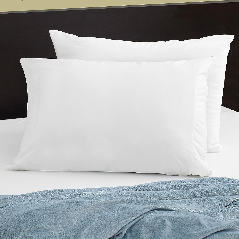 PureCare FTA502 Pillow Protector Lightweight Performance Fabric Queen White