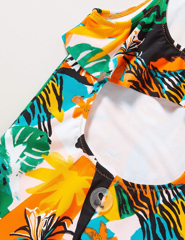 Costume da Bagno Stampato Bambina Arancione Party Animal