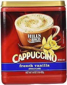 Hills Bros. Instant Cappuccino Mix, French Vanilla Cappuccino Mix, 16 oz