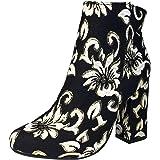 ec43f0d49b3 BAMBOO Women s Round Toe Block Heel Plain Bootie