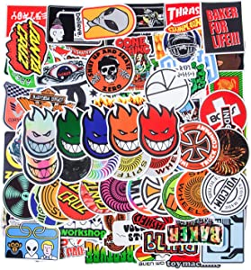 Cool Brand Stickers, 100PCS Fashion Skateboard Stickers, Computer Stickers Waterproof Vinyl Stickers Laptop Stickers Luggage Car Bike Bicycle Water Bottle Stickers for Teens