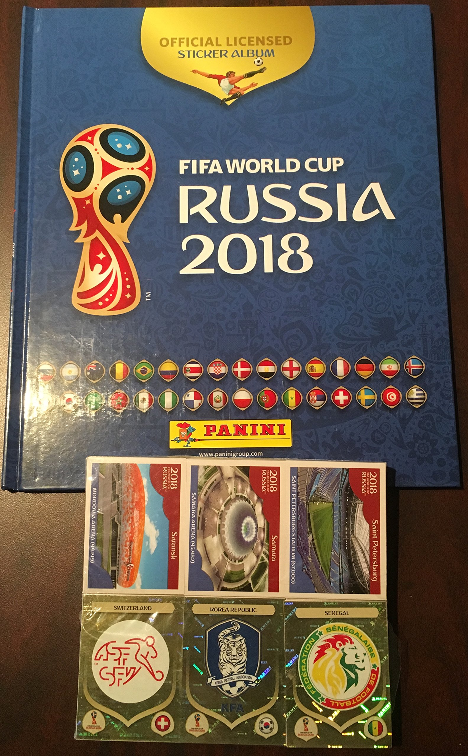 Panini Russia 2018 World Cup Official Licensed product Complete Sticker Collection + FREE Empty Hard Cover Album International Version by Panini (Image #3)