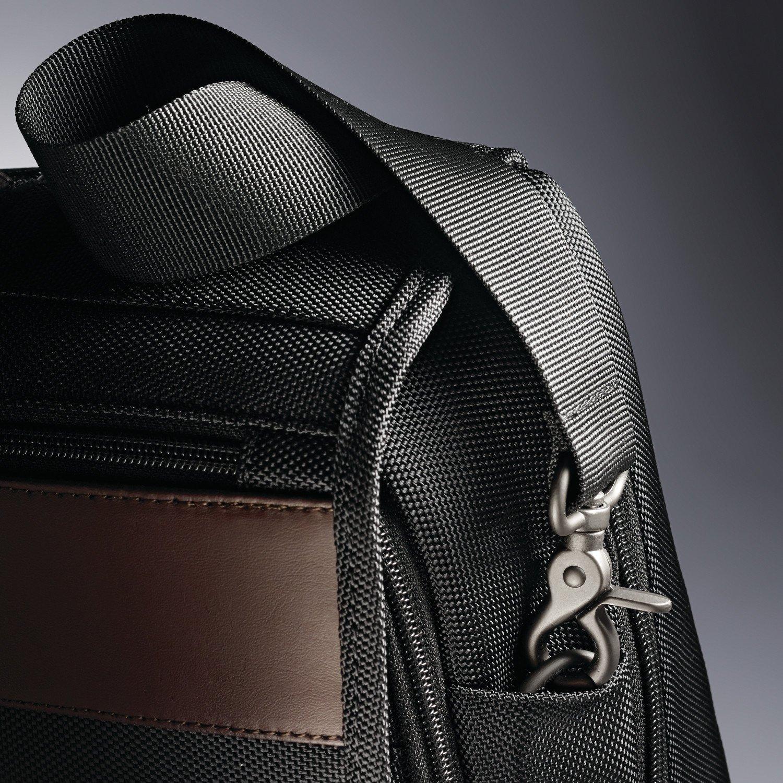 Samsonite Kombi Flapover Briefcase, Black/Brown by Samsonite (Image #8)