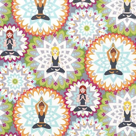 Tela con estampado de yoga MM548 de Michael Miller; con ...