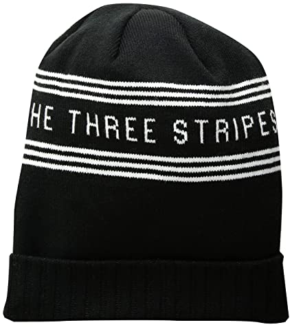a654a682 Amazon.com: adidas Men's Bantam Graphic Beanie, Black/White/Onix ...