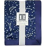 Ivanka Trump Stargazer Collection: Super Soft Plush Baby Blanket - Blue Stars Galaxy