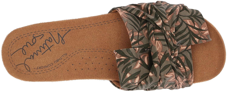 NATURAL SOUL Women's Adalia Slide Sandal B0788D3ZF4 6 W US|Khaki