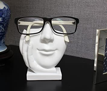 eb4cbd7d3860 Eyeglasses Holder - Face Eyeglass Display Stand - Sculpted White Face   Amazon.ca  Home   Kitchen