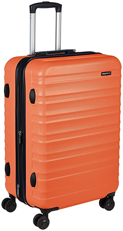 AmazonBasics Hardside Spinner Travel Luggage Suitcase - 26 Inch, Orange