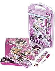 L.O.L. Surprise ! Briefpapier-set Für Mädchen | Lol Puppen Briefpapier Mit Kawaii Federmäppchen | Mode Schulbedarf | Rosa Briefpapier Für Mädchen Und Teenager, Große Geschenkidee