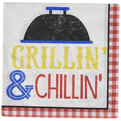 Amscan 701951 BBQ Picnic Beverage Napkins, One Size, Multicolor: Kitchen & Dining