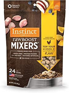 Instinct Freeze Dried Raw Boost Mixers Grain Free Recipe All Natural Dog Food Toppers