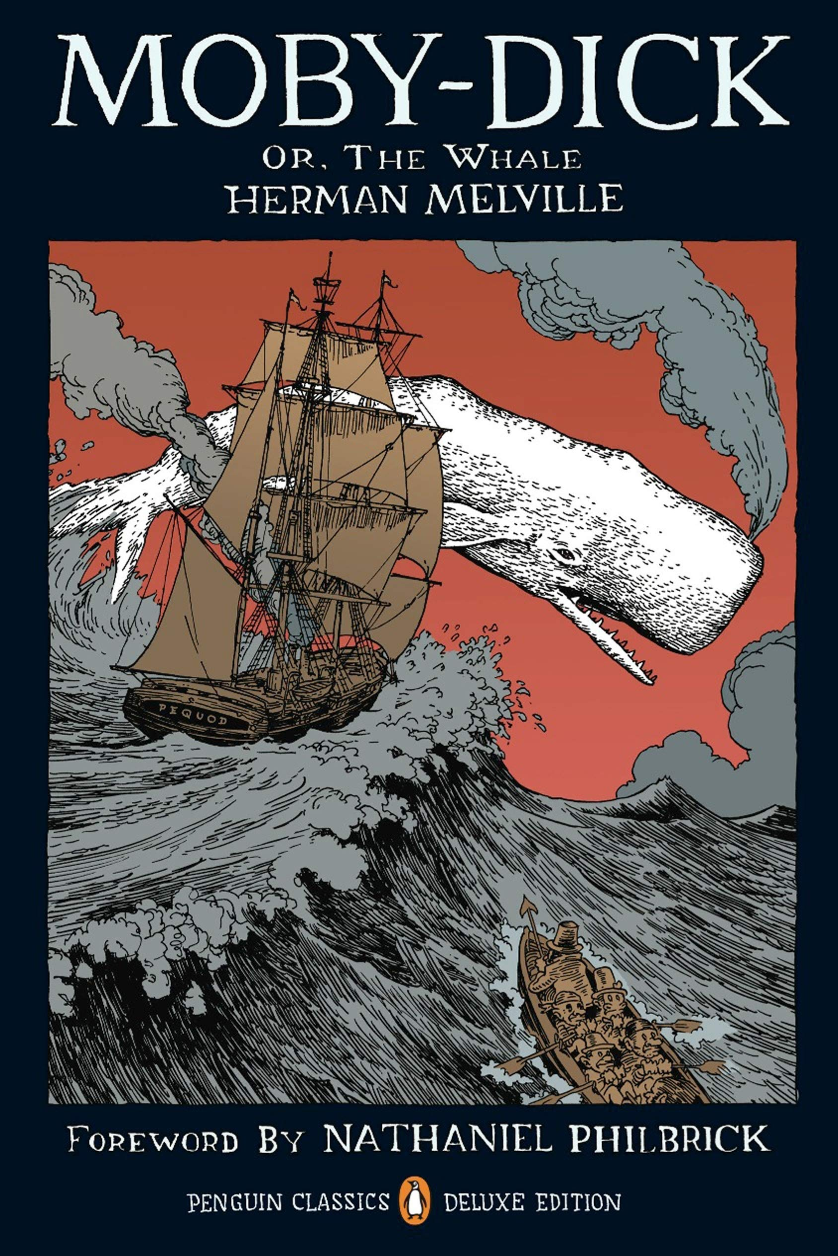 Moby-Dick: or, The Whale (Penguin Classics Deluxe Edition): Melville,  Herman, Millionaire, Tony, Philbrick, Nathaniel: 9780143105954: Amazon.com:  Books