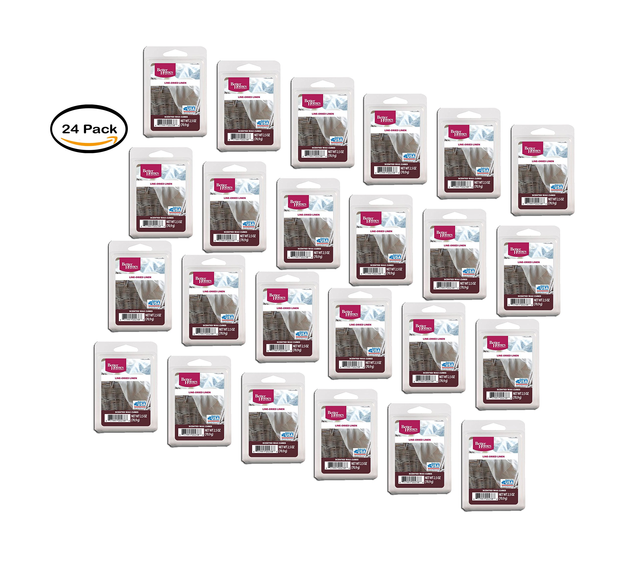 PACK OF 24 - Better Homes and Gardens Wax Cubes, Line-Dried Linen by Better Homes and Gardens