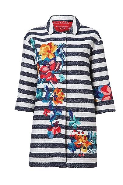 Amazon.com: ivko rayas Escudo w bordados de flores, botón ...
