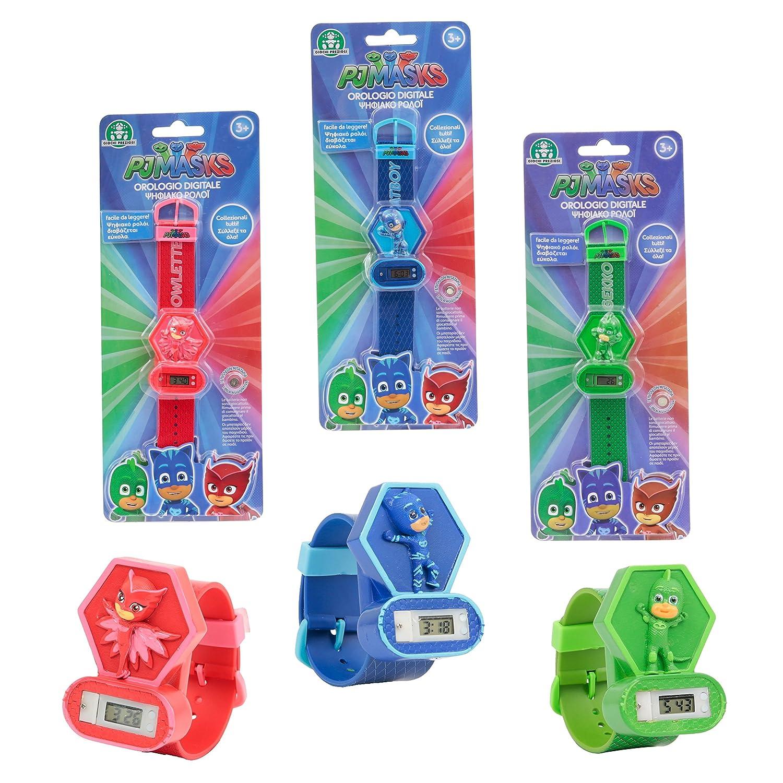 Giochi Preziosi PJ Masks - Reloj digital con diseño en relieve, Gatuno Lagartija: Amazon.es: Juguetes y juegos