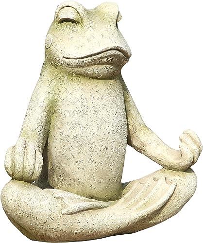 Hi-Line Gift Ltd Frog Sitting Lotus