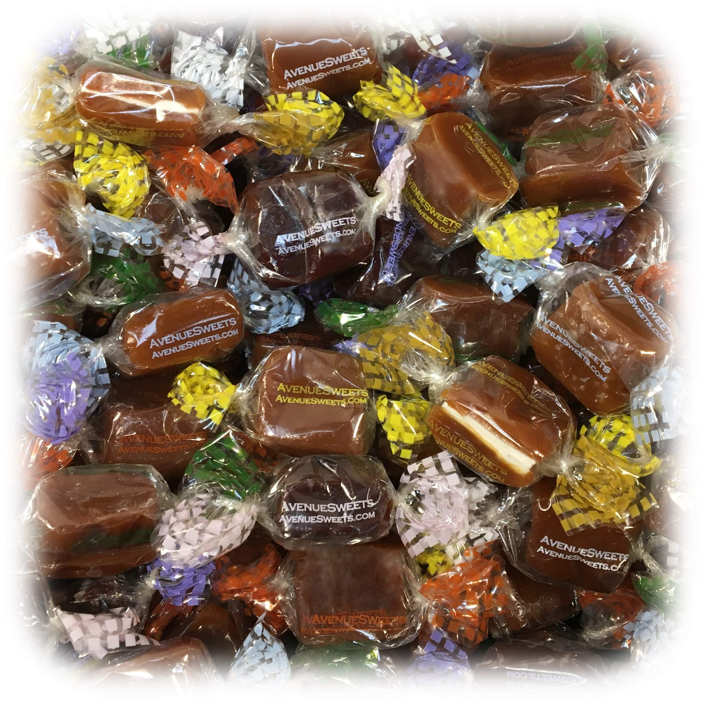 AvenueSweets - Handcrafted Individually Wrapped Soft Caramels - 1 lb Box - Customize Your Flavors by AvenueSweets