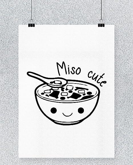 Compra Hippowarehouse Miso Cute Cartel Impreso Pared Arte ...