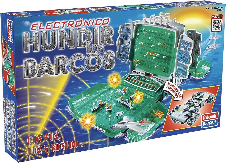 Falomir Hundir los Barcos Electrónico Mesa. Juego Clásico. (32 ...