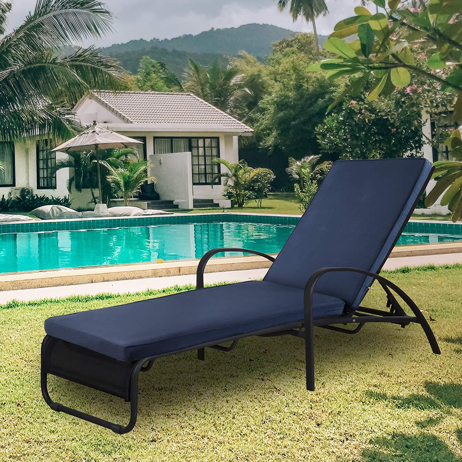 Outdoor/Indoor Chaise Lounge Cushion 78.7