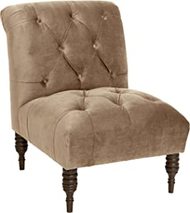 Skyline Furniture Tufted Chair in Mystere Mondo, Single