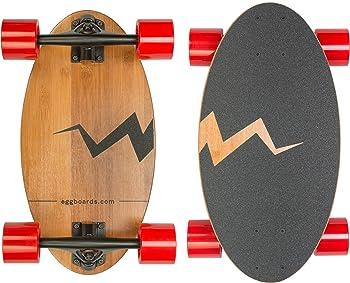 Eggboards Mini Longboard Skateboard Made with Bamboo Wood