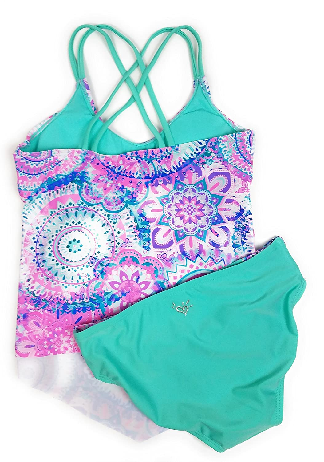 1183c22a4d Justice Big Girls' Swimsuits Tankini Bathing Suits Mult Sizes Colors larger  image