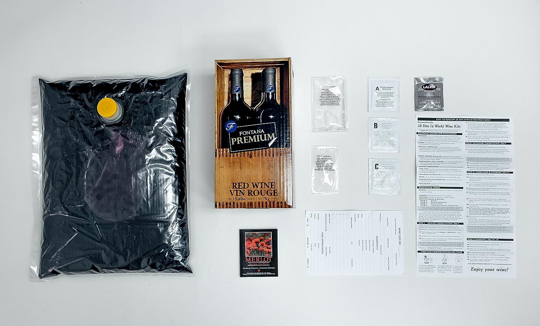 Fontana Hand Crafted - 5.2 Lt. - Cabernet Sauvignon Style Wine Kit ABC Cork Co