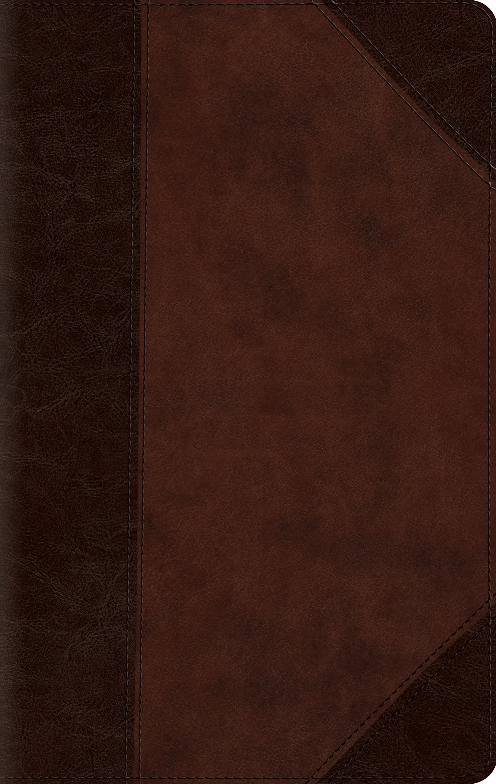 ESV Large Print Compact Bible (TruTone, Brown/Walnut