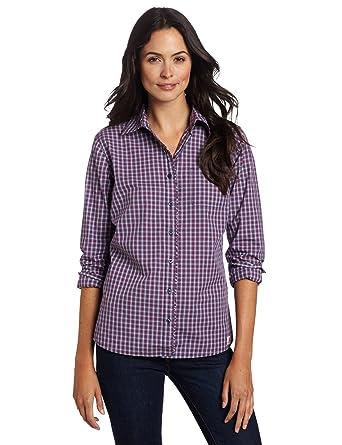 2398516b Carhartt Women's Country Girl Plaid Shirt, Patriot Blue (Closeout), Medium  at Amazon Women's Clothing store: Button Down Shirts