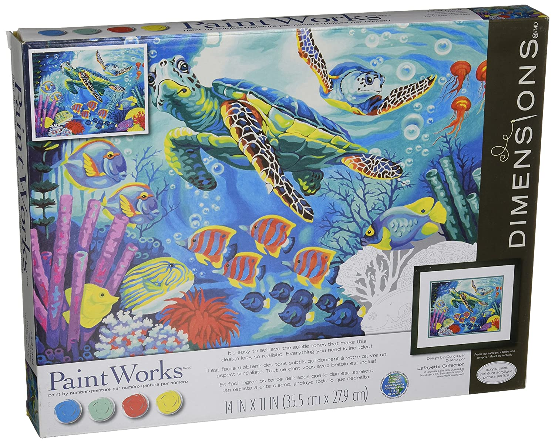 Dimensions Crafts 73-91454 Paintworks Paint by Numbers, Sea Turtles EK Success Brands
