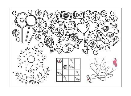 10 individuales para colorear, espacio Juego infantil, espacio Juego ...
