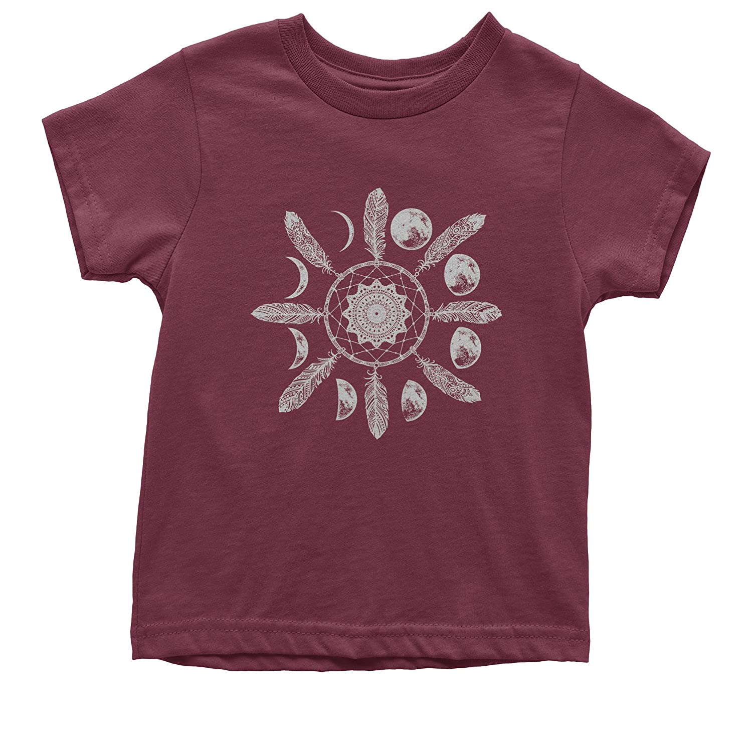 Expression Tees White Dreamcatcher Moon Phases Youth T-Shirt