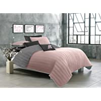 Safdie 60374.3K.17 Laurel Soft Pink/Grey Quilt Set (3 Piece)
