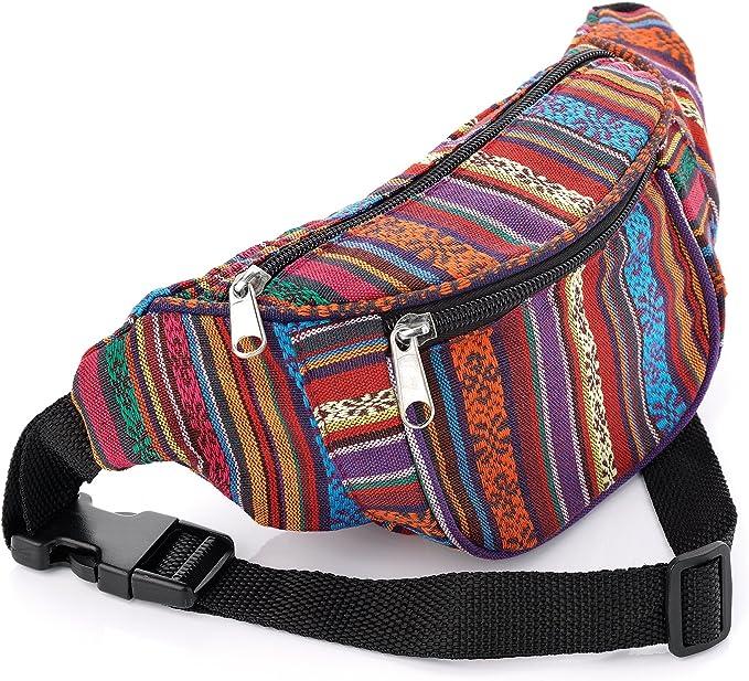 Bum Bag Money Waist Belt Fanny Pack Holiday Work Travel Festival Wallet 4 colors
