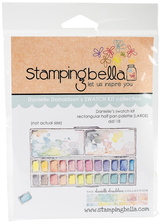 Stamping BellaLarge Rectangular Half Pan Palette Cling Stamps