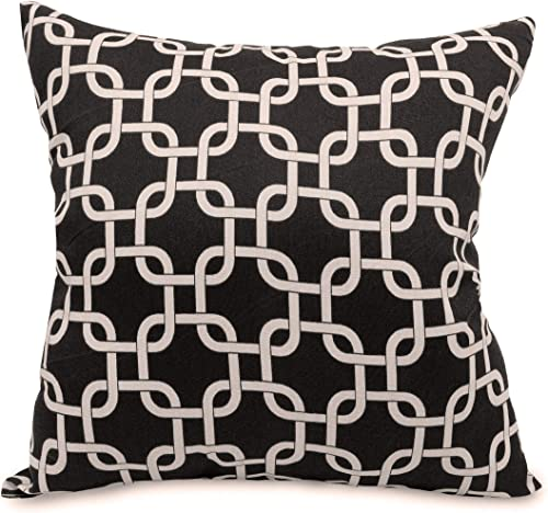 Majestic Home Goods Links Pillow, X-Large, Black