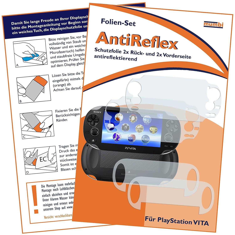 mumbi Schutzfolie kompatibel mit Sony PlayStation Vita Folie matt,  Displayschutzfolie (4x): Amazon.de: Games