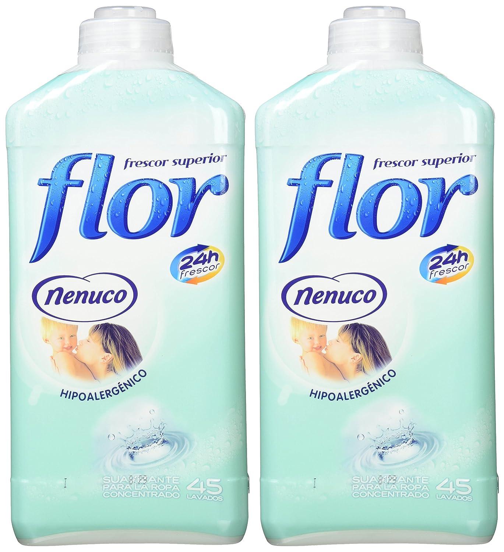 Flor Nenuco - Suavizante para la ropa concentrado - Hipoalergénico, 1100 ml [Pack de 2]: Amazon.es: Salud y cuidado personal