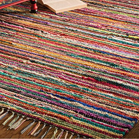 Indian Arts Tapis Indien 100 Recycle Fabrique Avec Un Metier A