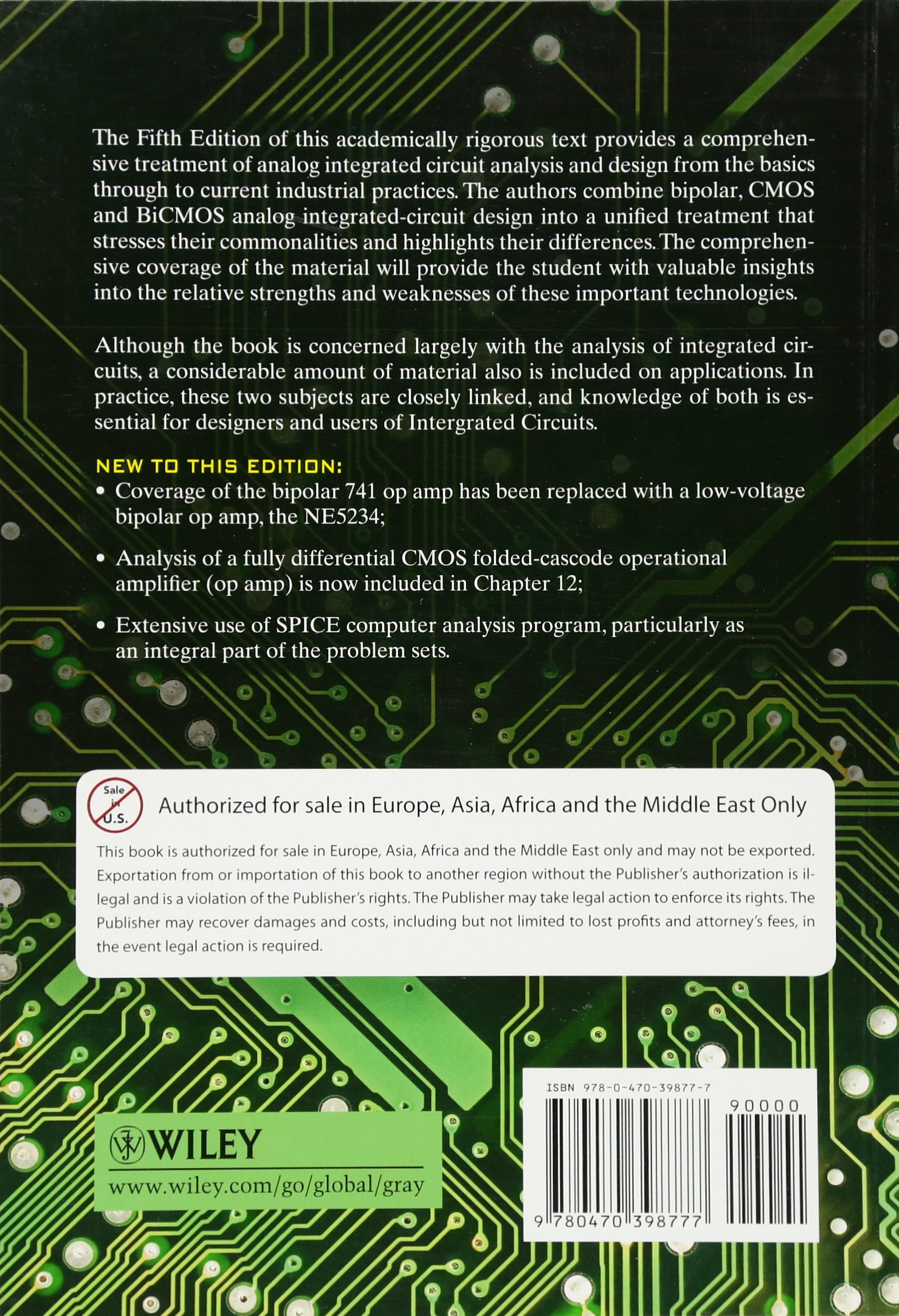Analysis And Design Of Analog Integrated Circuits International 741 Op Amp Ic Operational Amplifier Circuit Student Version Paul R Gray J Hurst Stephen H Lewis Robert G Meyer