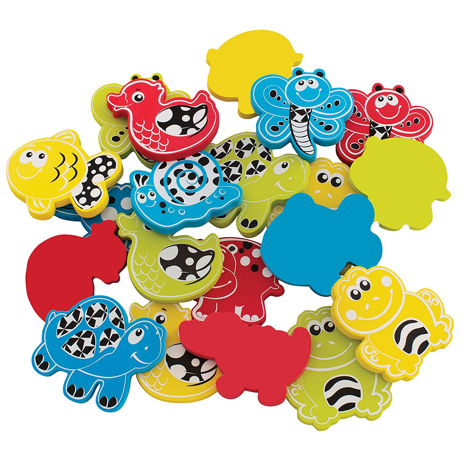Playgro Babies Animal Friends Bath Shapes with Net and Suction Cup