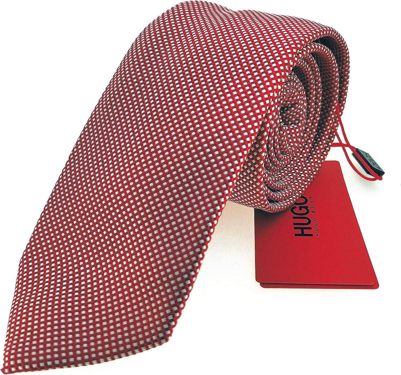 Corbata HUGO 7cm Roja estampada mod 2: Amazon.es: Ropa y accesorios
