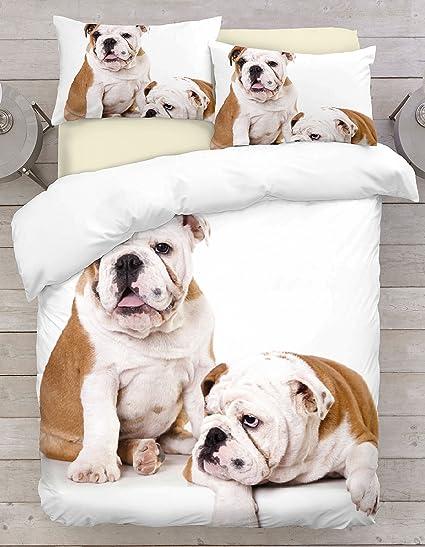 Bull Dog 3D Printed Duvet Cover Sets Bedding Pillow Case Single,Double,King,